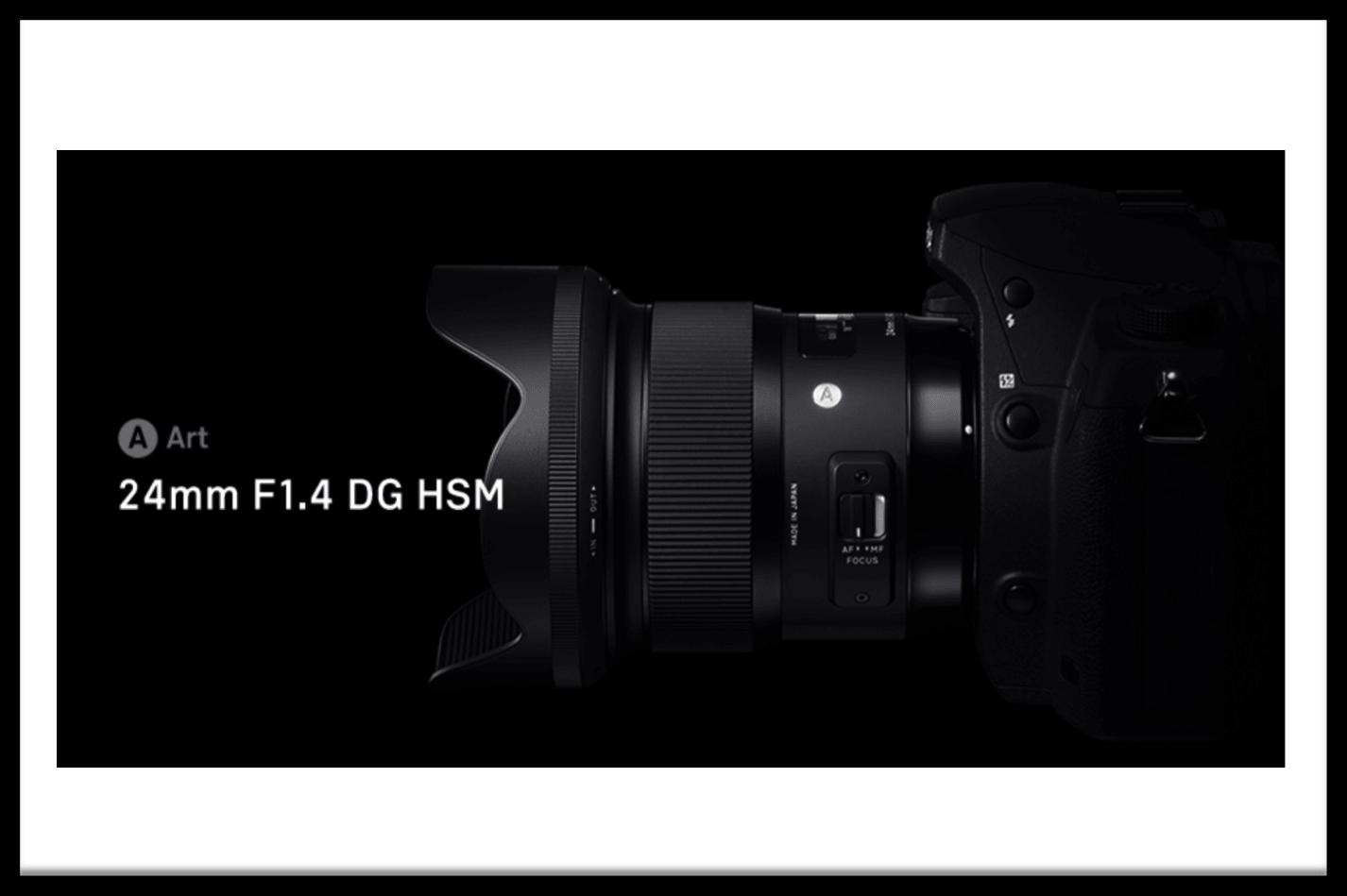 SIGMA 24mm F1.4 DG HSM Artモデルがついに発表!旧モデルも良いが、断然買い換えたいスーパレンズだと思う!