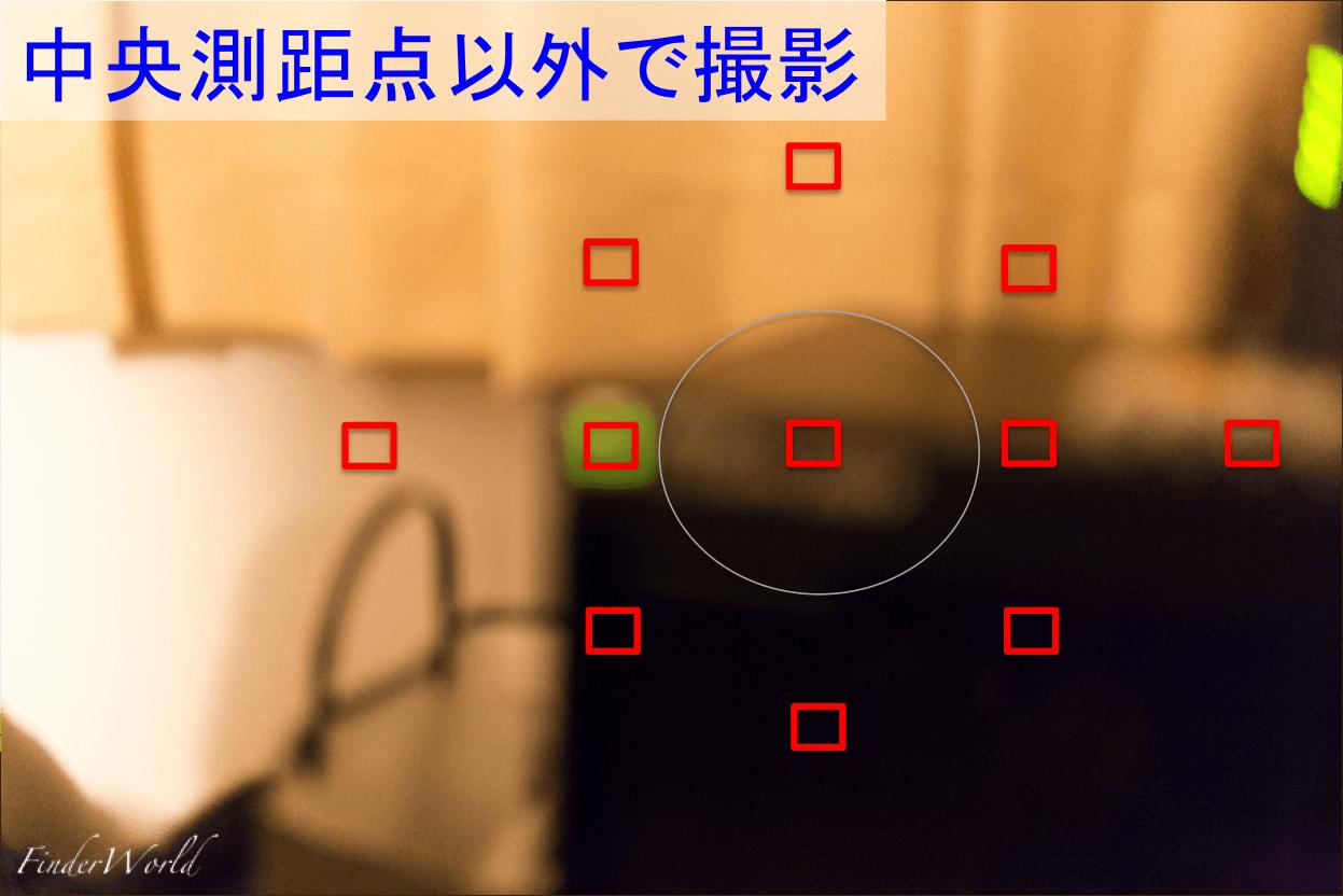 6D中央測距点以外で撮影時