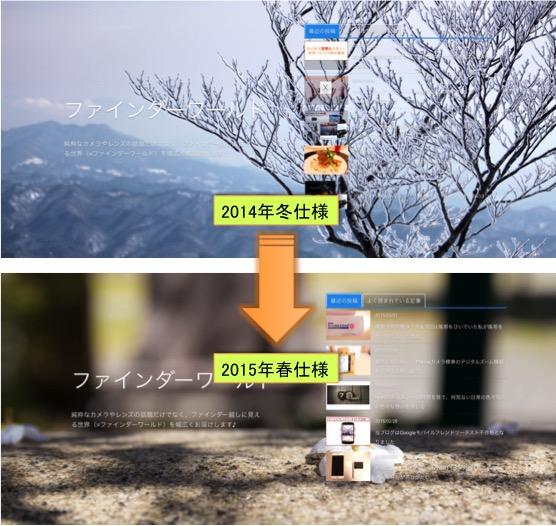 (2014冬→2015春仕様に衣替え♪)DigiPressの「GRAPHIE」でブログテーマの季節を演出