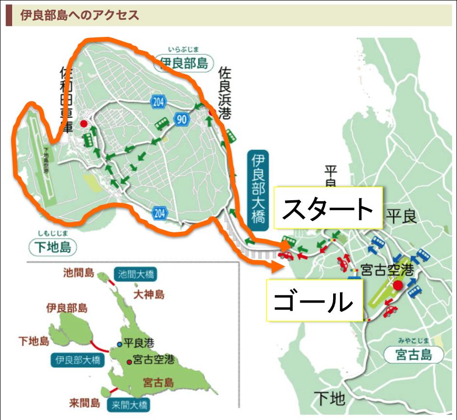 伊良部島・下地島マップ