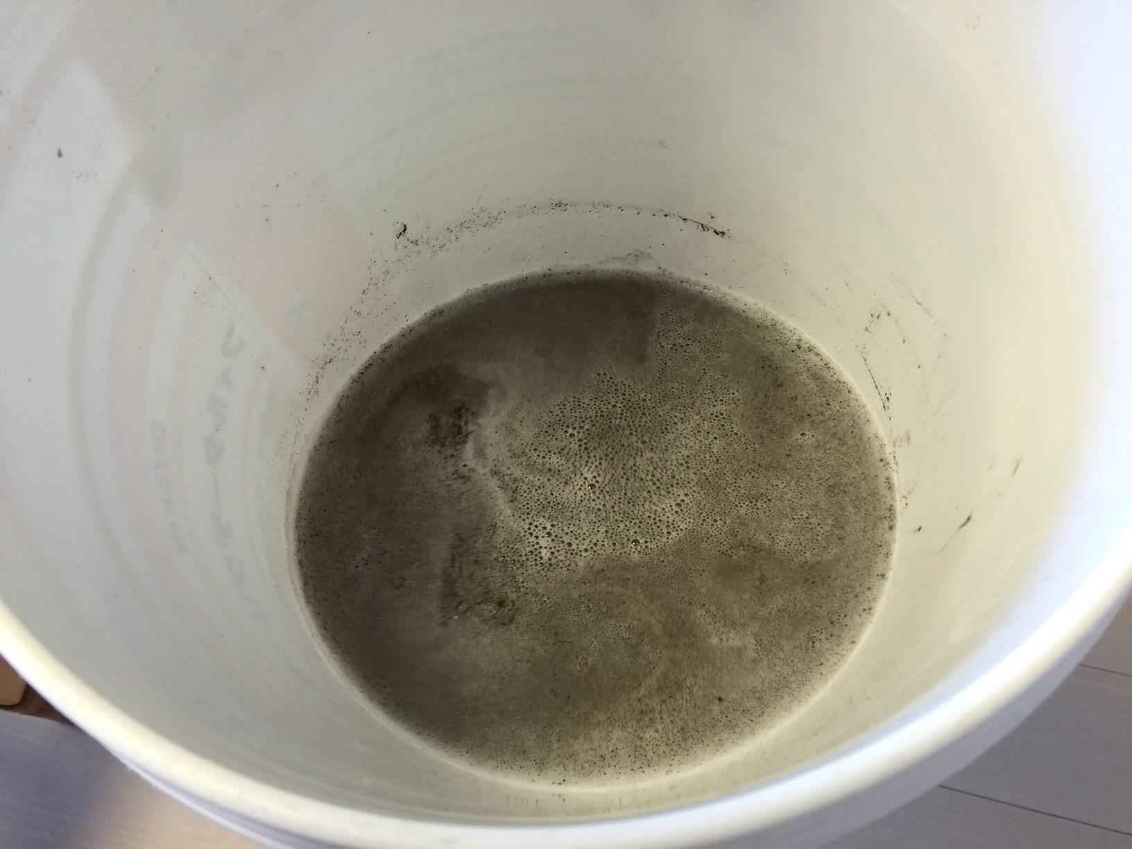 エアコンを洗浄した際に出た汚水