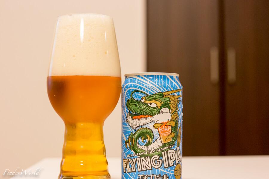 「エチゴビール FLYING IPA」はIPA初心者にオススメしたい飲みやすいビールだ